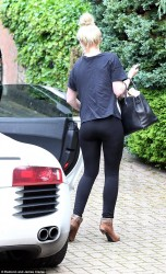 Helen Flanagan - leaves her home in Cheshire 6/23/13