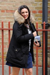 Kelly Brook - on the set of 'Taking Stock' in London 7/1/13