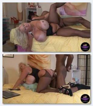 Kayla Kleevage   Massive Heavy Boobs Mom getting black dick