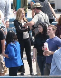 Kristen Bell - on the set of 'Veronica Mars' in Santa Monica 7/3/13