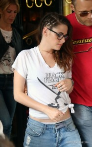 Kristen Stewart At Japanese Restaurant Kinu July 4 2013