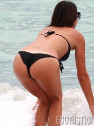 Claudia Romani - wearing a bikini in Miami 7/9/13