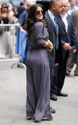 Salma Hayek - at GMA in NYC 7/11/13