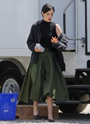 Krysten Ritter - on the set of 'Big Eyes' in Vancouver 7/11/13