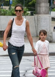 Katie Holmes - out in NYC 7/12/13