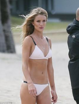 Rosie Huntington-Whiteley - bikini beach shoot candids for Modelco ...