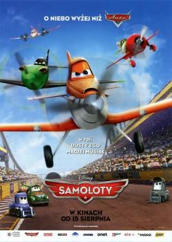 Przód ulotki filmu 'Samoloty'
