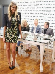 Jennifer Hawkins - MYER Model casting in Sydney 7/18/13