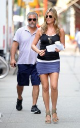 Jennifer Aniston - on the set of 'Squirrels to the Nuts' in NYC 7/19/13