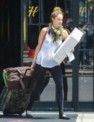 Shailene Woodley - leaves her hotel in NYC 7/26/13