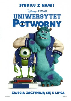 Przód ulotki filmu 'Uniwersytet Potworny'