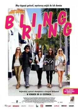 Przód ulotki filmu 'Bling Ring'
