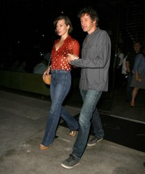 Milla Jovovich - at BOA Steakhouse in West Hollywood 8/1/13