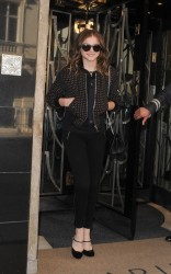 Chloe Moretz - leaves her hotel & arrives at BBC Radio 1 in London 8/6/13