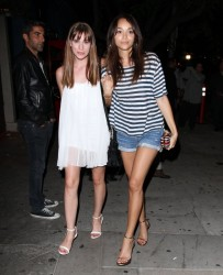 Ashley Madekwe & Christa B. Allen - at Hooray Henry's in West Hollywood 8/7/13