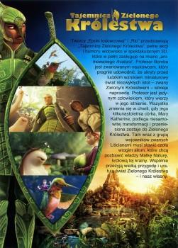 Tył ulotki filmu 'Tajemnica Zielonego Królestwa'