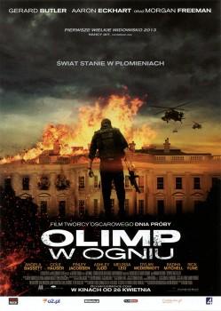 Przód ulotki filmu 'Olimp W Ogniu'
