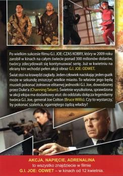 Tył ulotki filmu 'G.I.Joe: Odwet'