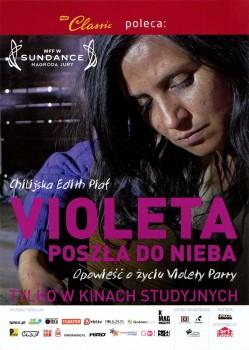Przód ulotki filmu 'Violeta Poszła Do Nieba'