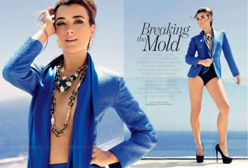 b14b0d270172852 Cote de Pablo – Latina September 2013 photoshoots