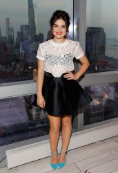 Lucy Hale - celebrates mark's 10th Birthday in NYC 8/12/13