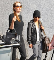Angelina Jolie - at LAX Airport 8/15/13