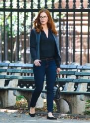 Bridget Regan - on the set of 'White Collar' in NYC 8/15/13
