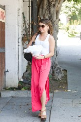 Sarah Hyland - at a hair salon in West Hollywood 8/15/13