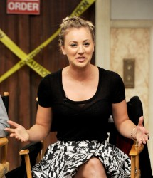 Kaley Cuoco - dialogue on the set of 'The Big Bang Theory' in Burbank 8/15/13