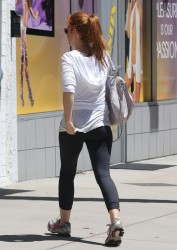 Isla Fisher - at a gym in Studio City 8/16/13