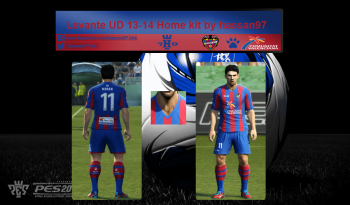 pes 2013 Levante UD 13-14 Home kit by hassan97