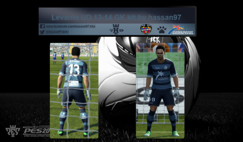 pes 2013 Levante UD 13-14 GK kit by hassan97