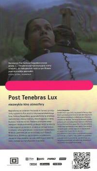 Tył ulotki filmu 'Post Tenebras Lux'