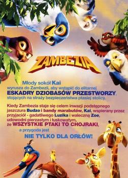 Tył ulotki filmu 'Zambezia'