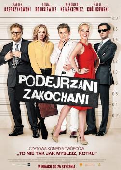 Polski plakat filmu 'Podejrzani Zakochani'