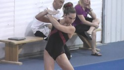 McKayla Maroney Practicing Her Floor Routine at the U.S.A. Gymnastics National Team Training Center in Huntsville, Texas in May 2013