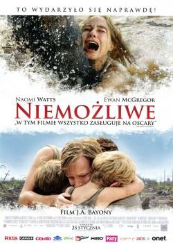Przód ulotki filmu 'Niemożliwe'