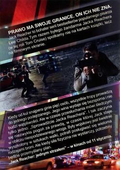 Tył ulotki filmu 'Jack Reacher: Jednym Strzałem'