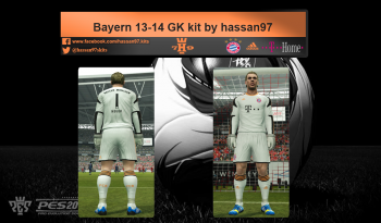 pes 2013 Bayern 13-14 GK(gb) kit by hassan97