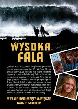 Tył ulotki filmu 'Wysoka Fala'