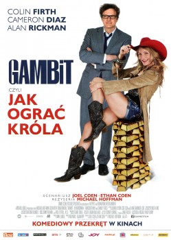 Przód ulotki filmu 'Gambit, Czyli Jak Ograć Króla'
