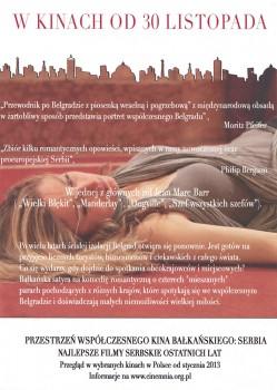 Tył ulotki filmu 'Przewodnik Po Belgradzie Z Piosenką Weselną i Pogrzebową'