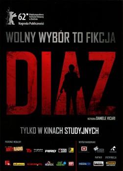 Przód ulotki filmu 'Diaz'