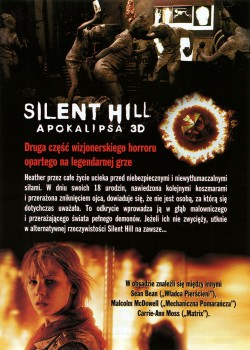 Tył ulotki filmu 'Silent Hill: Apokalipsa'