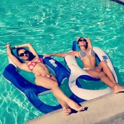 Arianny Celeste Blue Bikini with Britney Palmer