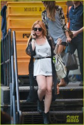 Lindsay Lohan - Out in NYC 8/30/13