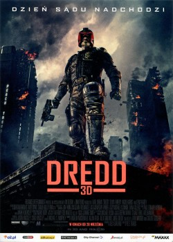 Przód ulotki filmu 'Dredd'