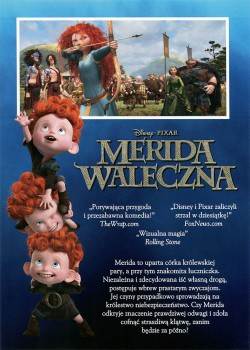 Tył ulotki filmu 'Merida Waleczna'