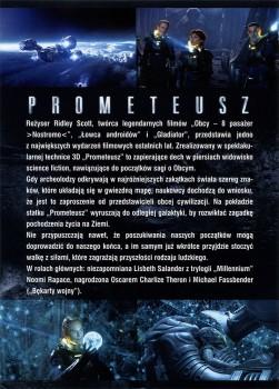 Tył ulotki filmu 'Prometeusz'