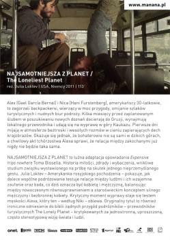 Tył ulotki filmu 'Najsamotniejsza Z Planet'